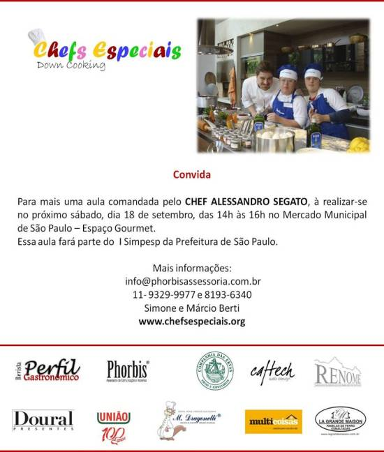 Chefs Especiais - Down Cooking